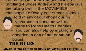 Strolling 4 Shoes' Movember Challenge – in aid of Men's Health Charities
