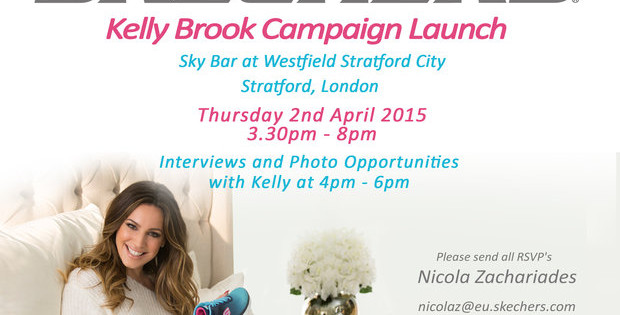 SKECHERS RELEASES BEHIND-THE-SCENES PREVIEW FROM KELLY BROOK'S FIRST GLOBAL FOOTWEAR CAMPAIGN  Skechers Memory Foam Campaign Premiers in the UK in April