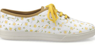 Hotter reveal Marie Curie collaboration with daffodil shoe